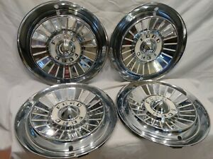 1957 Ford Galaxie Fairlane T Bird Wheel Covers Hubcaps Ranchero Set Of 4 Nice