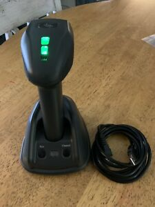2x Eom 375 Wireless Barcode Scanner With Usb Cradle Base Station Upc Pos
