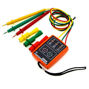 Sm852b 3 Phase Sequence Rotation Tester Led Indicator Detector Meter Tester Tool
