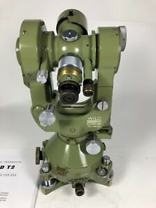 Wild T2 Theodolite Old Style 1 Arc Second Accuracy