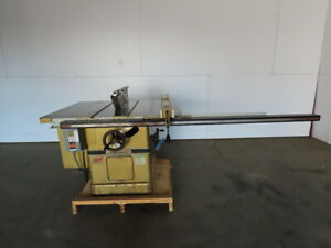 Powermatic Model 72 7 5hp 14 Tilt Table Saw W fence Blade Guard 208 230 460v