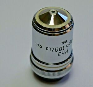 Zeiss Planapo 100x 1 3 Oil Immersion Microscope Objective Phase Contrast Ph3