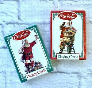 Coca-Cola Playing Cards Santa Claus Lot of 2 Decks Sealed New 1994 Christmas