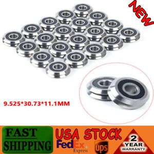 20pcs Rm2 2rs V Groove Sealed Ball Vgroove Bearing 3 8 9 525mm Light Durable