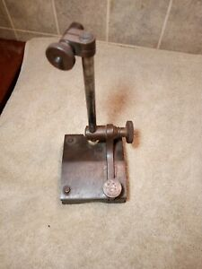 Old Starrett Dial Indicator V Block Base Holder Test Stand Machinists