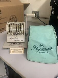 Vintage Paymaster Ribbon Writer Series 8000 Check Writer W key Dust Cover Ink