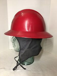 Ed Bullard Red Usa Hard Boiled Full Brim Hard Hat With Suspension Liner