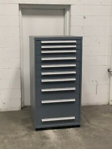 Used Equipto 10 Drawer Modular Cabinet Industrial Tool Storage 2246 Vidmar