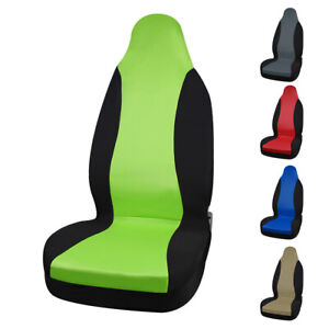 5 Colours Front High Back Universal Bucket Seat Cover Protector Fit For Auto Car