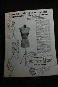 Vintage Worlds Most Adjustable Dress Form Brochure Perfect Fit Adjustomatic
