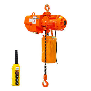 Prowinch 1 2 Ton Electric Chain Hoist 1000 Lbs Load Capacity 20ft Lifting Height