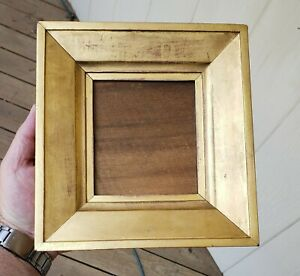 C1840 Excellent American Federal Sully Gilded Silhouette Miniature Folk Frame