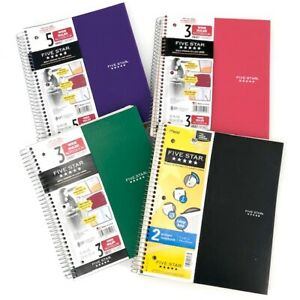 Five Star Set Of 4 Notebooks 2 3 5 Subject Large college Ruled Black Green Pin