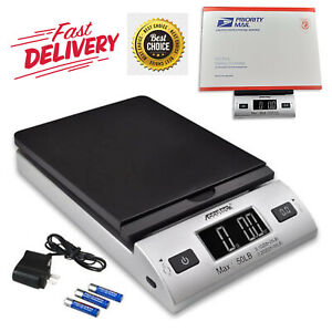 Postal Scale All In One Series Digital With Ac Adapter Mail Package Scales 50lbs