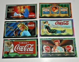 027 / S / O Scale COCA COLA  CARDS for TRAIN Billboards LOT OF 6 IMAGES