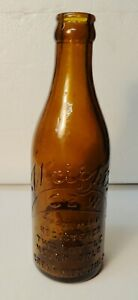 WRIGHTS AMBER COCA-COLA BOTTLE FROM GREENWOOD MISS.  VERY NICE. 1902 - 1915
