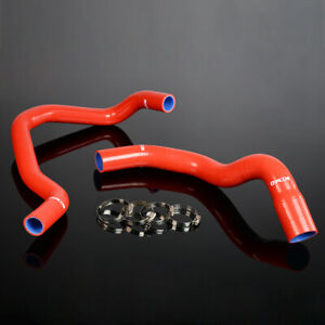 For 84 05 Jeep Cherokee Xj 4 0l 242 Cid L6 Red Silicone Radiator Hose Clamps Kit