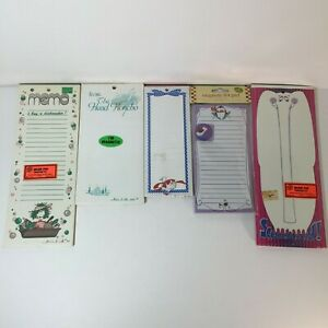 1980 s New Sealed Magnetic Notepad Memo Note Pad Magnets Pads Lot Of 5
