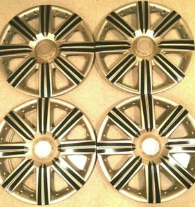 15 Inch Wheel Covers Hubcaps Universal Wheel Rim Cover 4 Pieces Set Gold Black