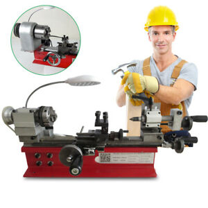 Lathe Machine Diy Tool Universal For Soft Metal Mini Turning Metal Lathe 400w