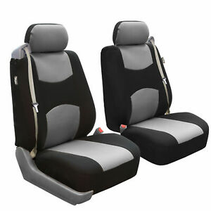 Custom Fit Seat Cover For Ford F 150 2004 08 Front Pair Built In Seat Gray