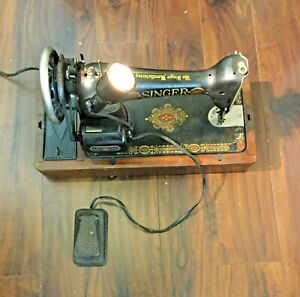 Antique Electric Singer 1910 Sewing Machine Serial Number Is G8558819