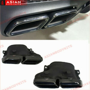 For Mercedes Benz Amg Black Exhaust Tips Gle Gle Coupe C292 Gls X166 W205
