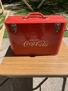 Vintage 40's-50's Coca Cola Airline Cooler.  All Original