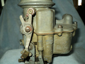 Ford Model 94 3 Bolt Carbureator For A Flat Head V8 A Nice Original Moves Freely