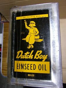 DUTCH BOY (PAINTS) 5 GALLON LINSEED OIL CAN - GREAT GRAPHICS