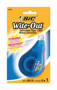 Bic Wite out White Correction Tape pack Of 6