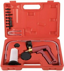 Universal Hand Held Brake Bleeder Vacuum Pump Gauge Tester Detector Tool Kit
