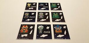 Lot with 09 rare and old Coca-Cola stickers from Brazil (Glow in the dark) RARE!