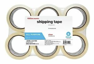 Office Depot Clear Multipurpose Shipping Tape Pack Of 6 Rolls