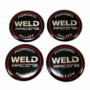Weld Racing 2 Od Wheel Center Hub Cap Logo Sticker Emblems 4 Pack