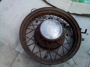 1932 Ford 18in Wire Wheel all Holes Good Solid
