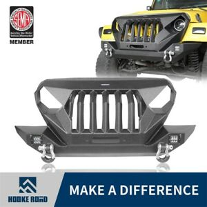 Hooke Road Steel Mad Max Front Grill Bumper Bar For Wrangler Jeep Tj 1997 2006