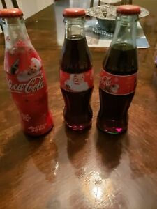 Lot Of 3 Coca Cola Vintage Bottles