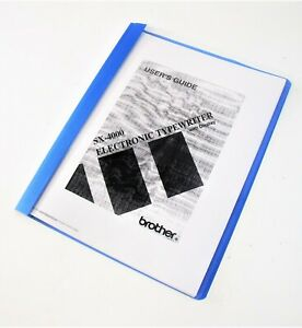 User s Manual For Brother Sx 4000 Electronic Daisy Wheel Typewriter Directions