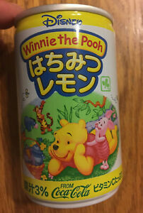 Extremely RARE Japanese Coca-Cola Can w/Winnie the Pooh Eeyore Piglet Tigger