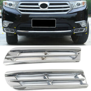 Abs Chrome Front Fog Light Lamp Cover 2pcs For Toyota Highlander 2011 2013