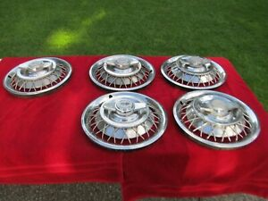 1962 1963 Chevrolet Impala Accessory Wire Wheel Covers set Of 5