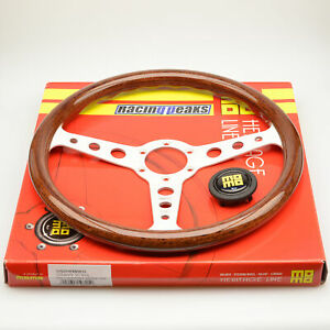 Momo Indy Heritage Steering Wheel 350mm Silver Race Sport Competition Tuning