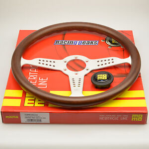 Momo Grand Prix Steering Wheel 350mm Silver Race Sport Competition Tuning