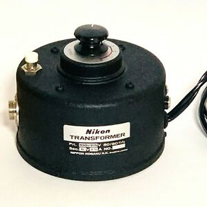 Vtg Nikon Transformer Microscope Variable Power Supply Control Voltage Dial