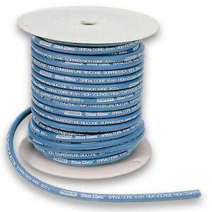 Moroso 73230 Spark Plug Wire Blue Max Blue Spiral Core 8 Mm 100 Ft Roll