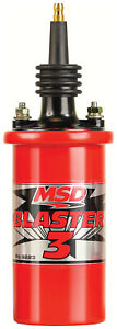Msd 8223 Ignition Coil Blaster 3 Red Canister Oil Filled 0 700 Ohm Male Hei