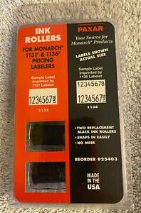 New In Pkg Ink Rollers For Monarch 1131 1136 Pricing Gun Pricing Labelers Ink