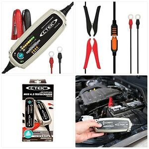Ctek 56 959 Silver Mus 4 3 Test Charge 12 Volt Fully Automatic Charger And T