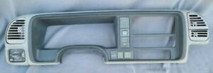 1995 98 Oem Silverado Sierra Gray 4x4 Dash Bezel Switches Nice Shape Free Ship